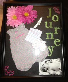 Baby keepsake shadow box! I made this for my granddaughter and am so excited about how cute it turned out!