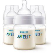 Philips Avent Anti-Colic Clear 4-oz Baby Bottles, BPA-Free, 3 ct