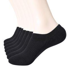 3a5e3bae0 WANDER No Show Socks 7 Pairs Natural Cotton Non Slip Low Cut Sock Size  6-12-Men Women
