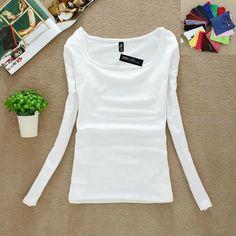 Dámské elastické triko tričko s dlouhým rukávem - SLEVA 80% a POŠTOVNÉ ZDARMA