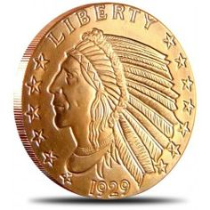Incuse Indian 1 Ounce Copper Round