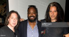 Adam Holzman, Erin Davis and Alex Skolnick attend the after-party for the NYC Block Party Celebrating 'Miles Davis Way' Unveiling on May 26, 2014 in New York City.
