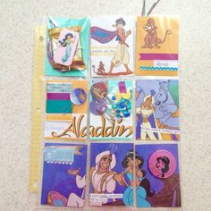 """Aladdin themed page! Another disney inspired #pocketletters #pocketletterspals"" By Vero Zamora"