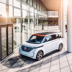 Where would you take the concept car BUDD-e on your first trip? #conceptcar #volkswagen #vw