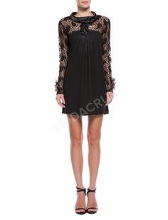 siyah elbise dantel uzun kollu hamile abiye elbise 40 beden