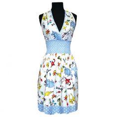 Smocked Halter Top Apron - Horton and Friends - Dr. #Seuss #fashion #fanart