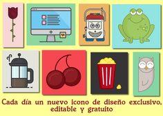 365cons es un sitio web que publica todos los días un nuevo icono de diseño editables y gratuitos #iconos