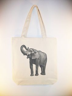 Circus Elephant Image Canvas Tote Bag  available in by Whimsybags, $12.00
