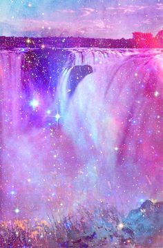 www.thepaletails.com Holographic Sparkle Sparkly Heaven. Glitter/Rainbow Cosmic Vibes. Water/Waterfall glitzy stars space universe cute.