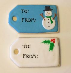 Items similar to 8 Gift tag decorated sugar cookies on Etsy Royal Icing Decorations, Christmas Sugar Cookies, Cookie Gifts, Cut Out Cookies, Cellophane Bags, Decorated Cookies, Cookie Decorating, Gift Tags, Holidays