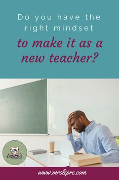 A new teacher may find themselves wondering if they made the right decision. If they want to succeed in education, they need to have the right mindset. new teacher Teaching Philosophy, Philosophy Of Education, Teaching Methods, Teaching Strategies, Teaching Resources, Teacher Blogs, New Teachers, Learning Log, Teacher Evaluation