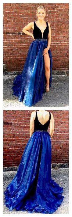 prom dresses 2018, prom dresses 2017, prom dresses long, prom dresses long cheap simple, prom dresses for freshman, prom dresses for juniors, prom dresses v-neck with split,#SIMIBridal #promdresses