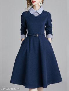 Midi Dress Work, Dress Skirt, A Line Dress Work, Navy Dress, Casual Dress For Work, Gold Dress, Dress Black, Work Dresses For Women, Clothes For Women