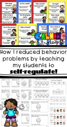Use these activities and strategies to help your students self-regulate their emotions and feelings! Perfect for kindergarten, 1st grade and 2nd grade classrooms. Social and emotional learning is so important!