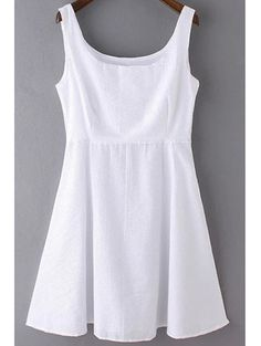 SHARE & Get it FREE | Sleeveless A-Line White DressFor Fashion Lovers only:80,000+ Items • New Arrivals Daily Join Zaful: Get YOUR $50 NOW!