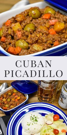 Picadillo is a classic Cuban dish. It's really easy to make and it's perfect for a deliciously different weeknight meal. In this recipe we go all out and add little fried potatoes to the picadillo… Meat Recipes, Mexican Food Recipes, Chicken Recipes, Cooking Recipes, Dinner Recipes, Healthy Recipes, Ethnic Recipes, Spanish Recipes, Dinner Entrees