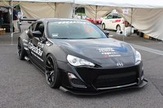 """Making its first appearance at an auto exhibition in Japan, the complete kit, tentatively called """"Rocket Bunny widebody kit"""" has been fitted to a Scion FR-S. Good Looking Cars, Toyota 86, Tuner Cars, Rear Wheel Drive, Scion, Car Manufacturers, Custom Cars, Subaru, Jdm"""