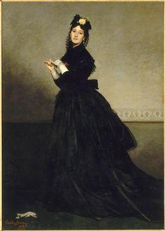 La Dame au gant. Mme Carolus-Duran, née Pauline Croizette (1839-1912), 1869 | In the Swan's Shadow