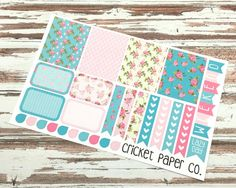 *** DESCRIPTION ***  This sticker set has a variety of shapes and patterns that can be mixed and matched in a shabby chic theme.  This listing