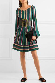 Etro - Striped Cotton-blend Poplin Top - Green - IT42