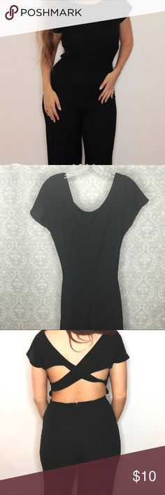 *NEW* Forever 21 Black Jumpsuit from Forever 21 Forever 21 Black Jumpsuit from Forever 21. Flared bottoms and cute cut out back! Forever 21 Other