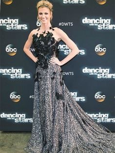 I LOVE this dress!!! Erin Andrews' DWTS Blog: Black Swan Fashion and a Hollywood Glam Dressing Room Update http://ift.tt/1Sj4oTt #PeopleStyleWatch #Fashion #Style #CelebrityStyle #Celebs #Celebrities