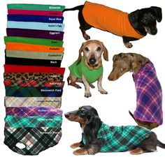 Cozy Fleece Dachshund Dog Sweaters