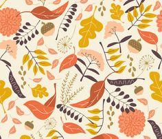 Autumn Path fabric by katherinelenius on Spoonflower - custom fabric