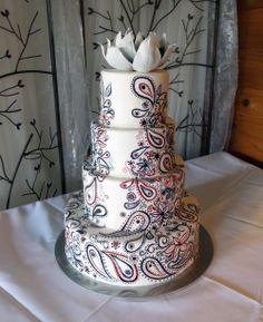 paisley wedding cake~!!!