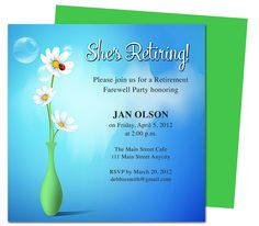 Winds Retirement Party Invitation Templates DIY printable template ...