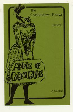 1972 brochure cover, Anne of Green Gables - The Musical™ at Confederation Centre of the Arts.
