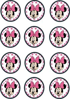 Instant Download Printable    12 x Minnie Mouse pink Birthday Party Cupcake Toppers for cake toppers.gift tags or party decorations.      After completion of payment you can immediately download the file and printed as you want. In this way you save time and shipping cost.    with this digital file,