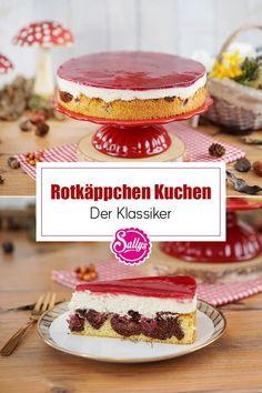 Heute backe ich eine leckere Rotkäppchentorte - ein einfacher Klassiker aus Rührteig, Schokolade, Vanille, Kirschen und einem Fruchtspiegel. Mit dem Guss aus Kirschsaft und der luftigen Creme aus Sahne und Magerquark ist dieser klassische Kuchen ein echter Genuss! 😋 #sallys #sallyswelt #sallysweltrezept #rezept #recipe #rotkäppchenkuchen #klassischerkuchen #rotkäppchenkuchenrezept #einfachbacken #kuchen #kuchenrezepteinfach #kuchenmitfrucht #kirschkuchen #simplerecipe #simplecake #rührteig Kakao, Tiramisu, Cheesecake, Ethnic Recipes, Creme, Desserts, Muffins, Food, Vanilla
