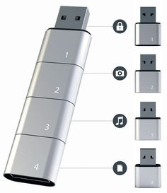 Stackable USB Flash Drive Allows Virtually Unlimited Memory : http://nipun-frendshipspot.blogspot.com/