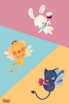 Momo, Kero and Suppi