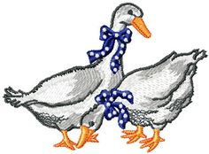 Two ducks free embroidery design - Birds - Machine embroidery forum