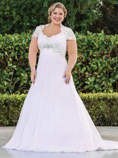 Rozlakelin Plus Size Bridal Dress Sophia: DimitraDesigns.com