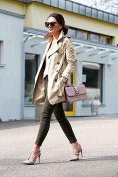 trenchcoat, khaki and lace FashionHippieLoves waysify