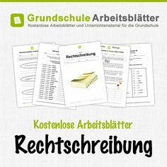 Kostenlose Arbeitsblätter und Unterrichtsmaterial für den Deutsch-Unterricht zum Thema Rechtschreibung in der Grundschule.