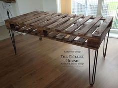 Dining Room Table Made of Salvage Pallet | Hometalk