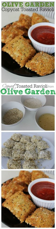 Copycat Recipe! Copycat Olive Garden Toasted Ravioli using frozen ravioli | Frugal Coupon Living.