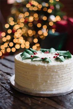 Mistletoe Cake #christmas