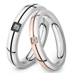 Кольца для влюбленных - С камнем