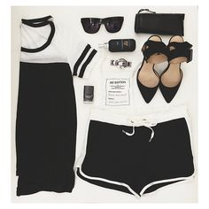 Black + White Splendid top and short by @Aimée Gillespie | SwellMayde. #shopeveryday