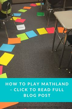 How to play math land | a full size board game | click to read full blog post https://www.themathmentors.com/mathland/ | active math | learning games | math teaching ideas