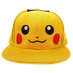 f0de3259225 Anime Pokemon Pikachu Cosplay Baseball Caps Adults and children Hip Hop Hat  Kids Biboo Swag Snapback Cap