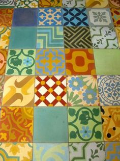 Patchwork cement tile from Villa Lagoon Tile