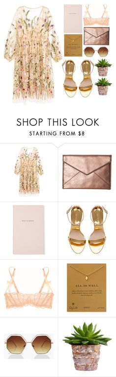 """Insouciance"" by miss-magali-mnms ❤ liked on Polyvore featuring Rebecca Minkoff, Kate Spade, Zara, Agent Provocateur, Dogeared and Boohoo"