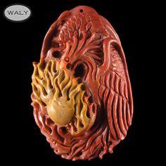 Carved Phoenix Fancy Agate Bead   eBay