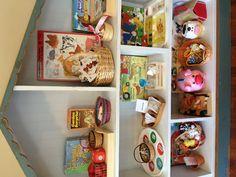 Farm & Garden Montessori Preschool Shelves. Great idea to change the theme each month.